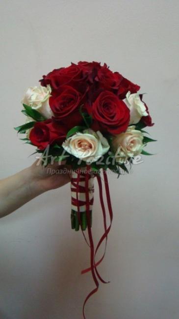 Как сделать букет цветов для невесты