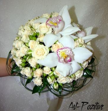 Цветы для невесты букет живые цветы 163